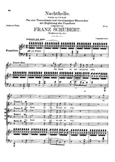 Nachthelle, D.892 Op.134: Nachthelle by Franz Schubert