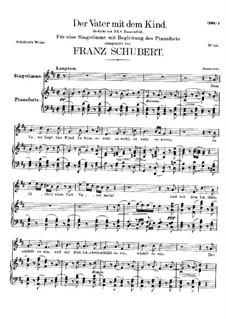 Der Vater mit dem Kind, D.906: Für Stimme und Klavier by Franz Schubert