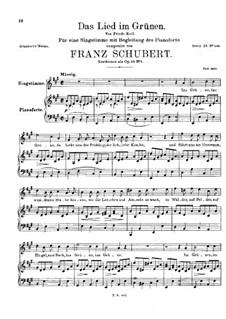 Das Lied im Grünen, D.917 Op.115 No.1: A-Dur by Franz Schubert