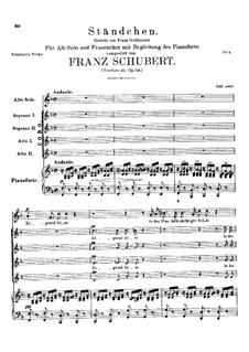 Zögernd, leise. Ständchen, D.921 Op.135: Zögernd, leise. Ständchen by Franz Schubert