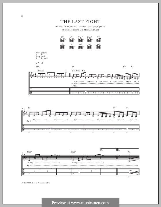 The Last Fight (Bullet for My Valentine): Für Gitarre mit Tabulatur by Don Gilmore, Jason James, Matthew Tuck, Michael Paget, Michael Thomas