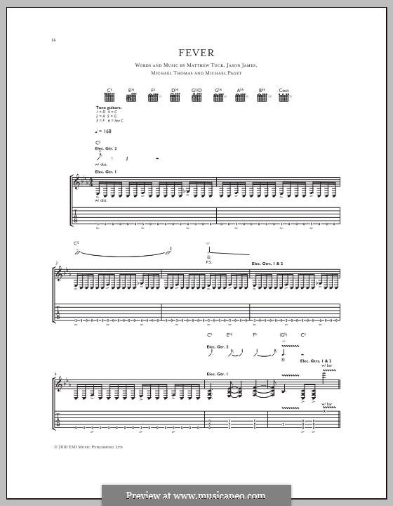 Fever (Bullet for My Valentine): Für Gitarre mit Tabulatur by Don Gilmore, Jason James, Matthew Tuck, Michael Paget, Michael Thomas