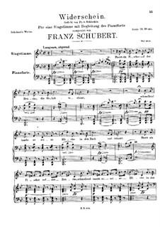 Widerschein, D.949: Widerschein by Franz Schubert