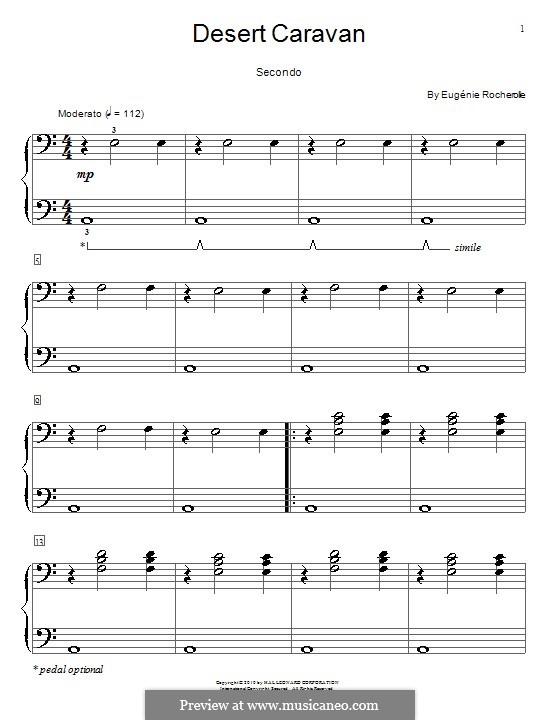 Desert Caravan: Für Klavier, vierhändig by Eugénie Rocherolle