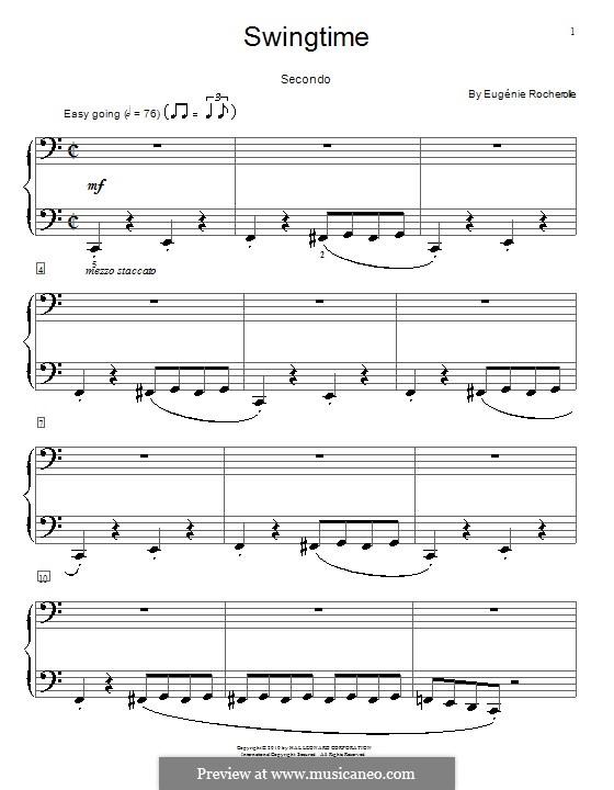 Swingtime: Für Klavier, vierhändig by Eugénie Rocherolle