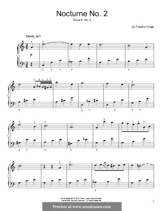 Nr.2 in Es-Dur: Einfache Noten für Klavier by Frédéric Chopin
