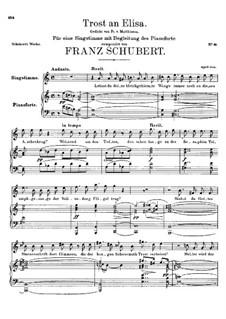 Trost an Elisa, D.97: C-Dur by Franz Schubert