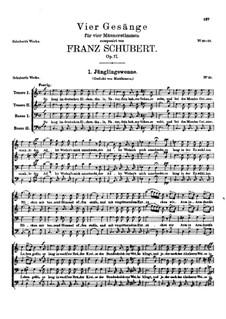 Vier Lieder für vier Männerstimmen, D.983 Op.17: Vollsammlung by Franz Schubert