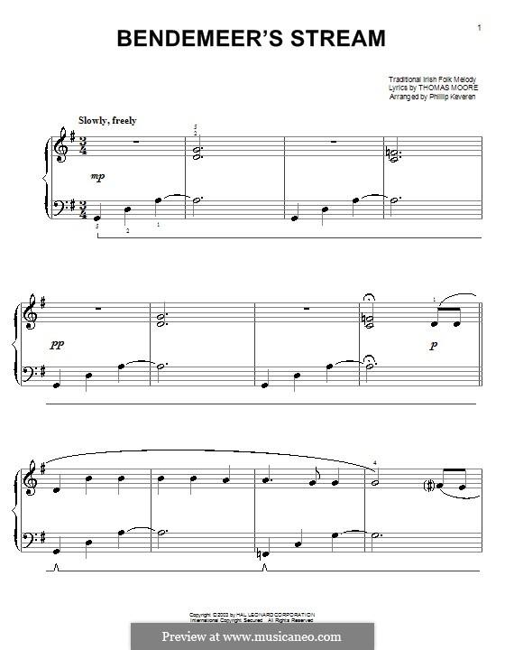 Bendemeer's Stream: Für Klavier, leicht by folklore