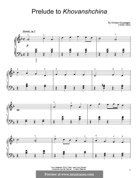 Fragmente: Introduktion (Fragment) für Klavier by Modest Mussorgski