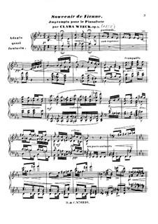 Souvenir de Vienne: Souvenir de Vienne by Clara Schumann