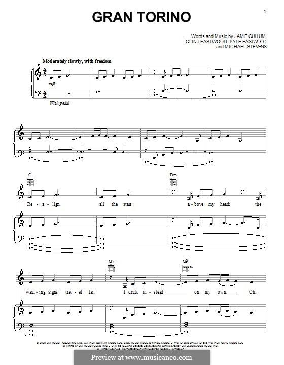 Gran Torino (Jamie Cullum): Für Stimme und Klavier (oder Gitarre) by Kyle Eastwood, Michael Stevens