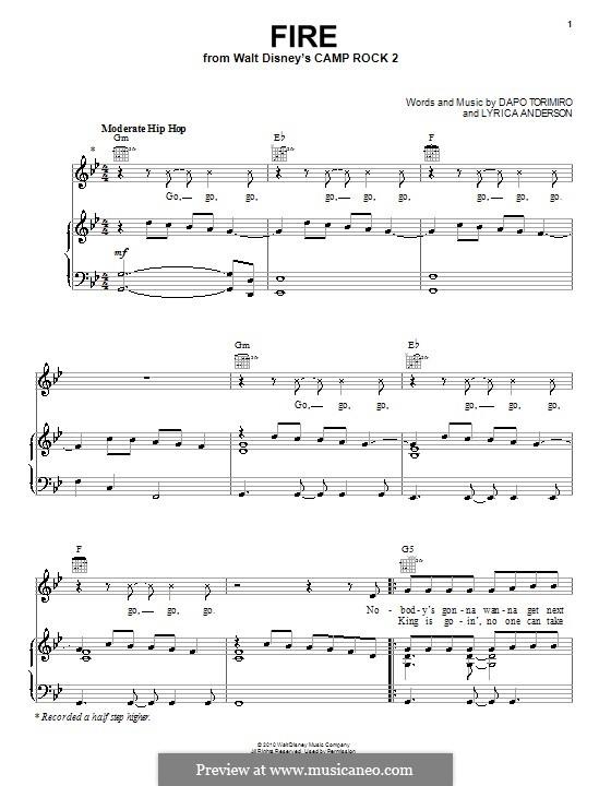Fire (Matthew Mdot Finley): Für Stimme und Klavier (oder Gitarre) by Dapo Torimiro, Lyrica Anderson