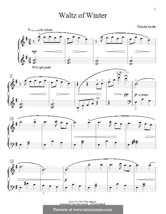 Waltz of Winter: Für Klavier by Glenda Austin