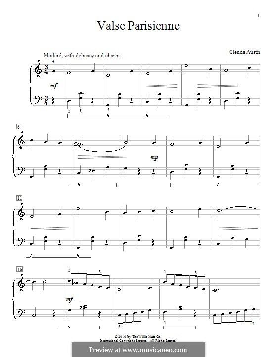 Valse Parisienne: Für Klavier by Glenda Austin