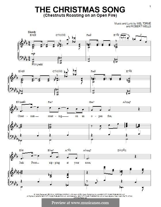 The Christmas Song (Chestnuts Roasting on an Open Fire): Für Stimme mit Klavier oder Gitarre (Andy Williams) by Mel Tormé, Robert Wells