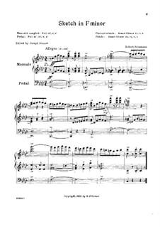 Skizzen, Op.58: Nr.3 by Robert Schumann