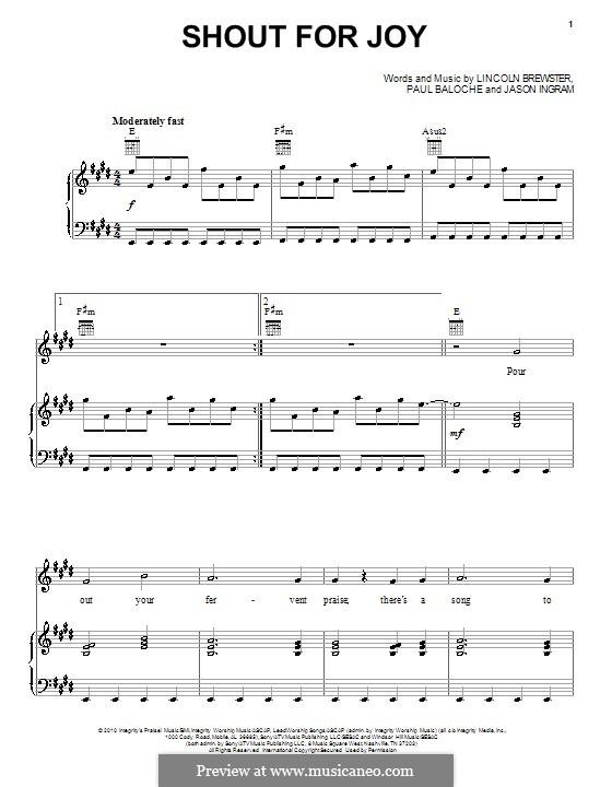 Shout For Joy: Für Stimme und Klavier (oder Gitarre) by Jason David Ingram