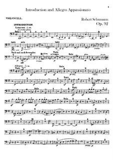 Introduktion und Allegro Appassionato, Op.92: Cellostimme by Robert Schumann