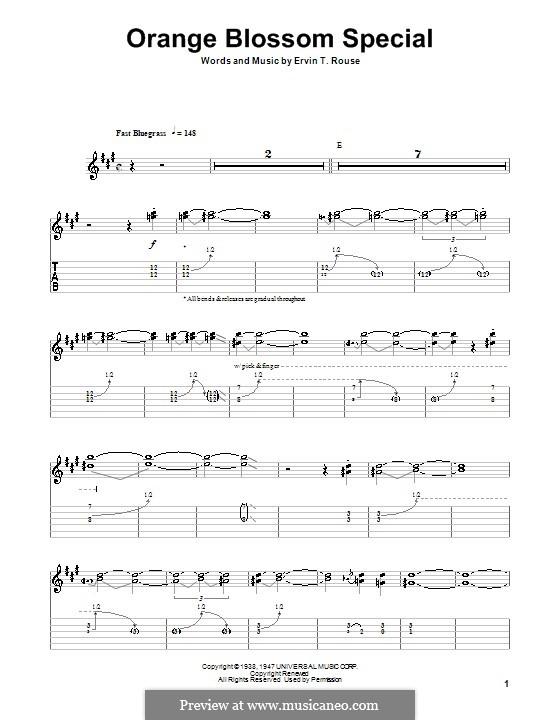 Orange Blossom Special: Für Gitarre mit Tabulatur by Ervin T. Rouse