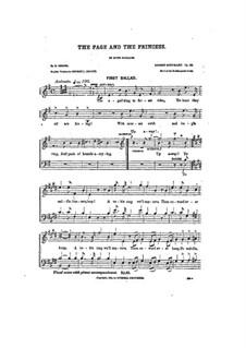 Vom Pagen und der Königstochter, Op.140: Singpartitur by Robert Schumann