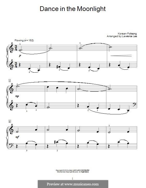 Dance in the Moonlight: Für Klavier by folklore