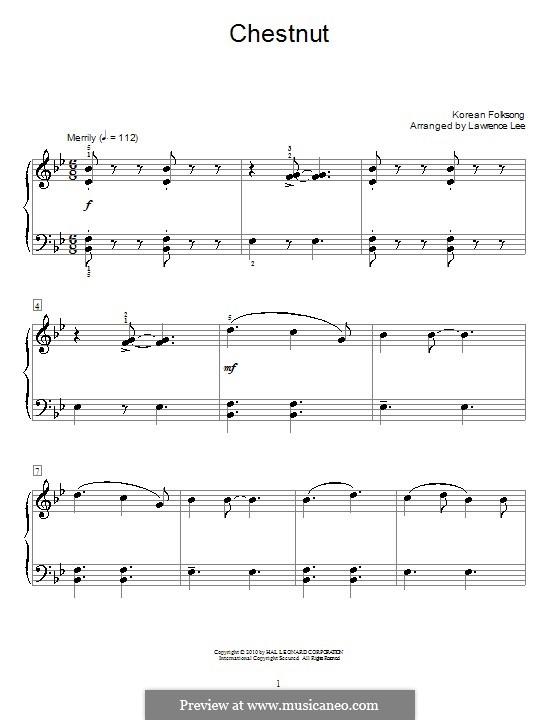 Chestnut: Für Klavier by folklore