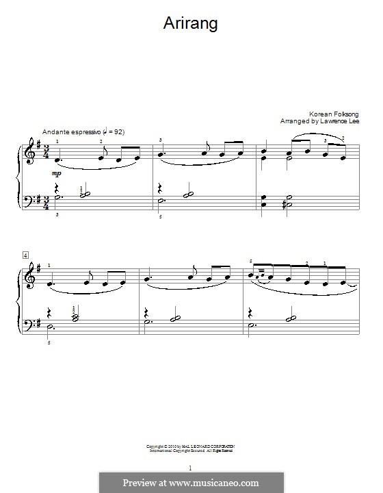 Arirang: Für Klavier by folklore