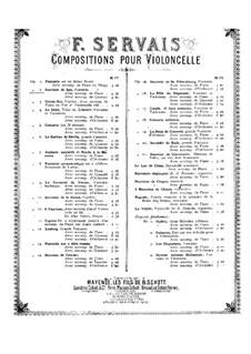 Souvenir de Spa, Op.2: Partitur für Cello und Klavier by Adrien-François Servais
