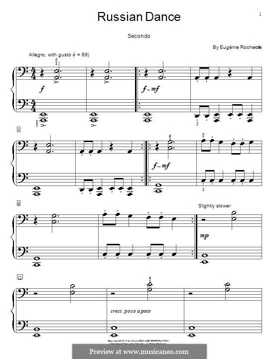 Russian Dance: Für Klavier, vierhändig by Eugénie Rocherolle