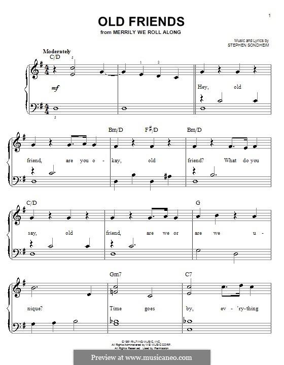 Old Friends: Für Klavier, leicht by Stephen Sondheim