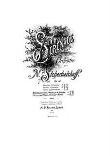 Serenade für Orchester, Op.33: Bearbeitung für Klavier by Nikolai Scherbatschöw