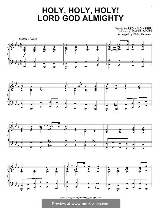 Holy, Holy, Holy! Lord God Almighty: Für Klavier (Noten von hohem Qualität) by John Bacchus Dykes