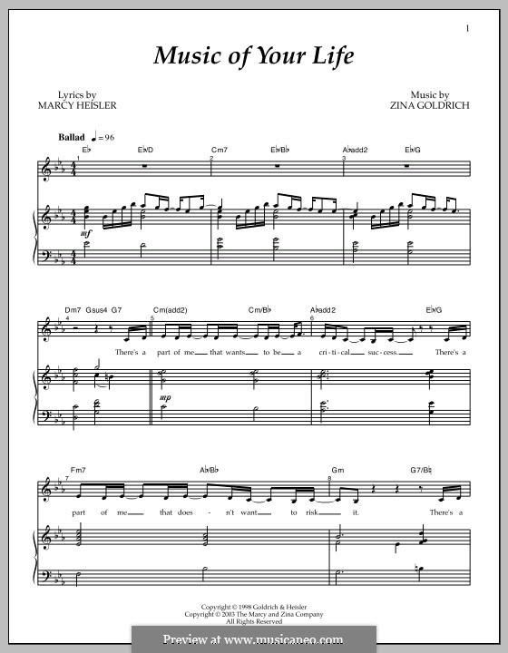 Music of Your Life: Für Stimme und Klavier by Marcy Heisler, Zina Goldrich