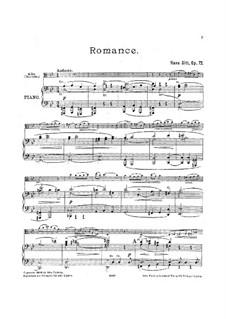 Romanze für Bratsche und Klavier, Op.72: Solostimme, Partitur für zwei Interpreten by Hans Sitt