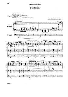 Auf der Wanderschaft, Op.15: Morgenwanderung, für Orgel by Emil Sjögren