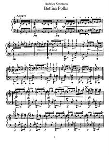 Bettina Polka, T.81: Für Klavier by Bedřich Smetana
