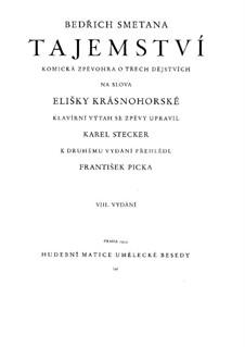 Das Geheimnis, T.118: Für Stimmen und Klavier by Bedřich Smetana