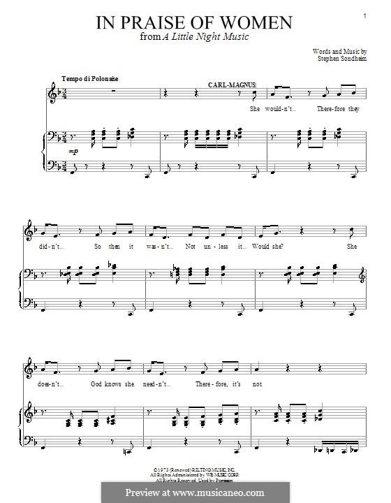 In Praise of Women: Für Stimme und Klavier by Stephen Sondheim