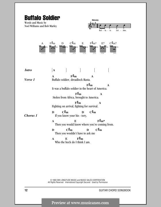 Buffalo Soldier (Bob Marley): Text und Akkorde by Noel Williams