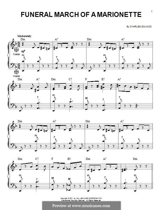 Trauermarsch einer Marionette: Für Akkordeon by Charles Gounod