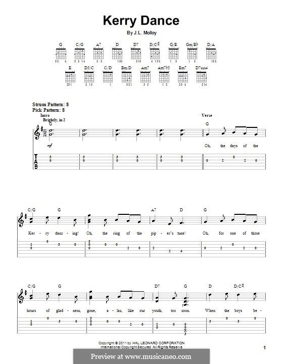 The Kerry Dance: Für Gitarre by James L. Molloy