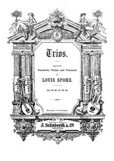 Klaviertrio Nr.3 in a-Moll, Op.124: Vollpartitur, Stimmen by Louis Spohr