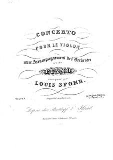 Konzert für Violine und Orchester in A-Dur, Op.1 No.1: Konzert für Violine und Orchester in A-Dur by Louis Spohr