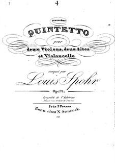 Streichquintett Nr.4 in a-Moll, Op.91: Streichquintett Nr.4 in a-Moll by Louis Spohr