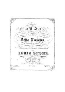 Drei Konzert-Duette für zwei Violinen, Op.3: Stimmen by Louis Spohr