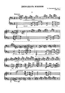 Zwölf Skizzen, Op.1: Vollsammlung by Alexei Stantschinski