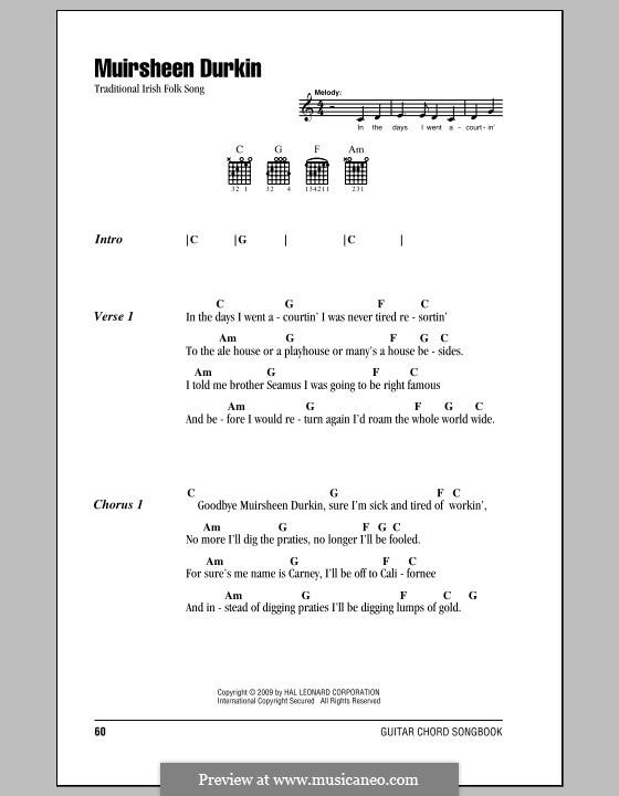 Muirsheen Durkin: Text und Akkorde by folklore