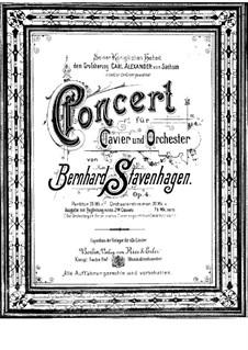 Klavierkonzert Nr.1 in h-Moll, Op.4: Vollpartitur by Bernhard Stavenhagen