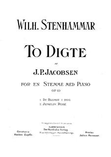 Zwei Lieder, Op.10: Zwei Lieder by Wilhelm Stenhammar